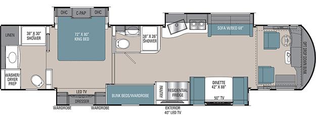 Coachmen Sportscoach RD 402TS Floorplan
