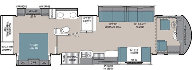 Coachmen Sportscoach RD 403QS Floorplan