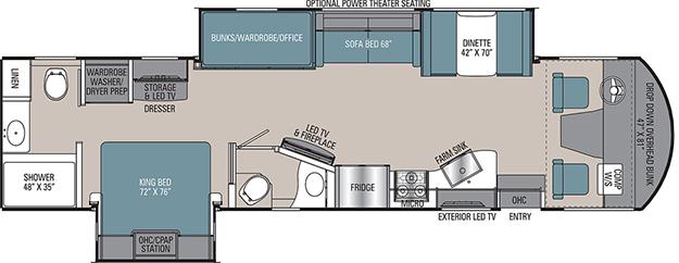 Coachmen Mirada 35ES Floorplan