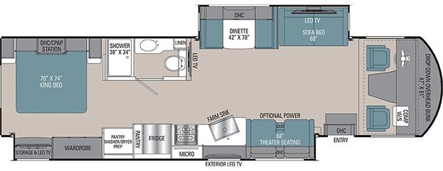 Coachmen Mirada 35OS Floorplan
